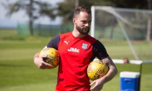 James McPake will oversee the first day of pre-season for Dundee on Monday.