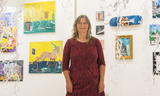 Art Angel manager Rosie Summerton at the exhibition.