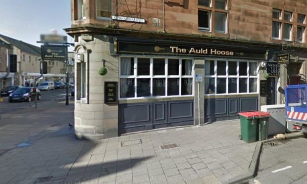 The Auld Hoose pub in Perth, where the incident took place outside.