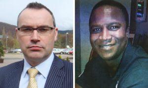 Calum Steele (left) faces a disciplinary probe over a tweet he sent regarding the Sheku Bayoh (right) case
