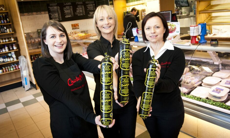 From left: Ria Macdonald, Shona Macleod, Rona Macdonald, all third generation directors in the family business (granddaughters of the original Charles Macleod who established the business).