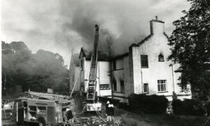 Ballumbie House was gutted by fire 40 years ago.