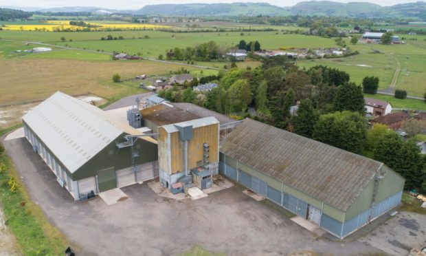 KEY SITES: Four grain stores, including the one at Errol are on the open market at offers over £16 million.