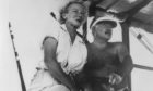 Ernest Hemingway with his fourth wife, Mary Welsh.