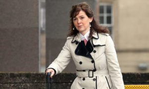 Dorothy Bain QC, lawyer for the family of Jacqueline Morton, arrives at Glasgow Sheriff Court, for the inquiry into a bin lorry crash which killed six people days before Christmas. PRESS ASSOCIATION Photo. Picture date: Friday August 21, 2015. See PA story INQUIRY Lorry. Photo credit should read: Andrew Milligan/PA Wire