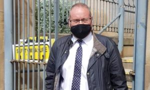 Jeff Stewart outside Dundee Sheriff Court