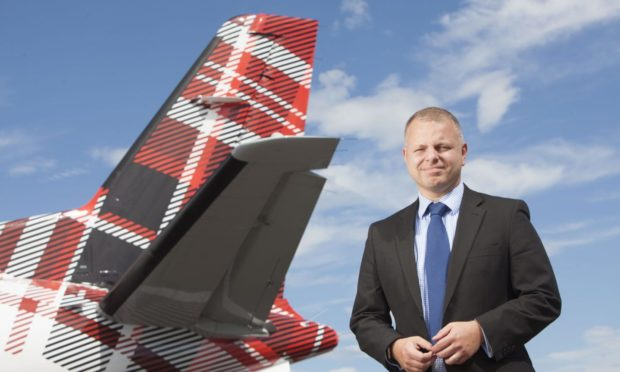 Loganair chief executive Jonathan Hinkles.