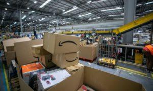 Inside Amazon Warehouse in Dunfermline