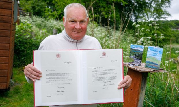 Thomas Brown with letters from the royal family.