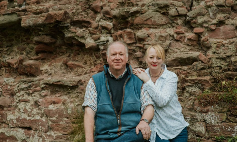 The owners of Lindores Abbey Distillery, Helen and Drew Mackenzie Smith.