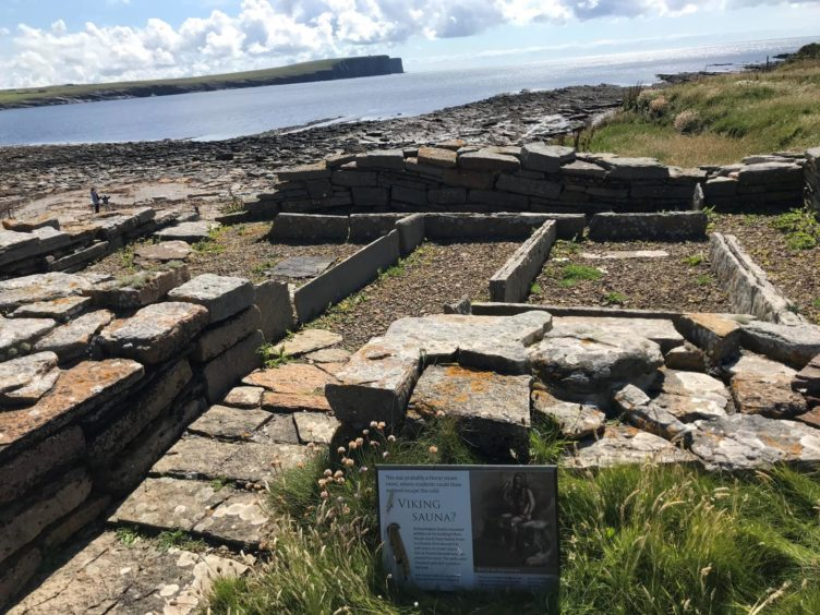 Remains of a Viking sauna, Brough of Birsay
