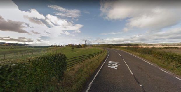 A911 near Milnathort where a hit and run took place on tuesday