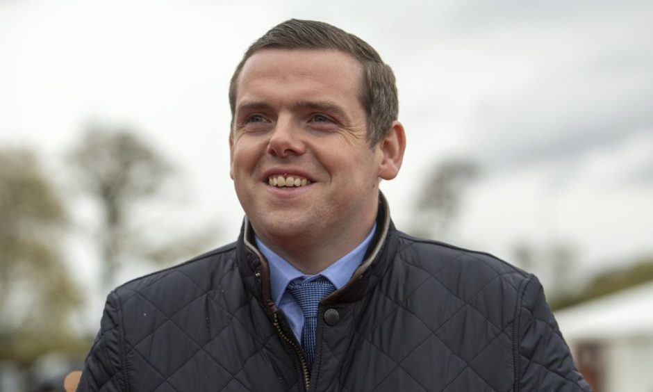 Douglas Ross at the count at the Inverness Leisure Hall.
