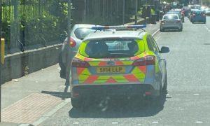 Police on Pitkerro Road.