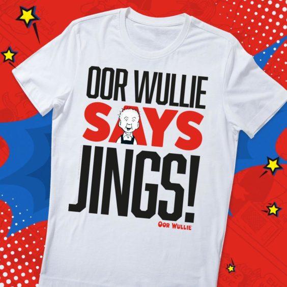Oor Wullie Says Jings! T Shirt.