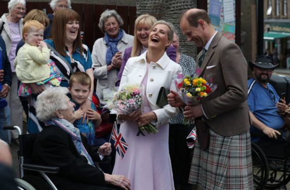 The Earl and Countess of Forfar during their July 2019 visit. Pic: Andrew Milligan/PA Wire