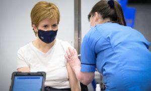 Nicola Sturgeon gets her second Covid vaccine