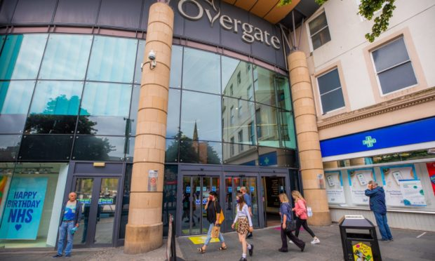 The Overgate Centre, which was evacuated as a precaution after a suspicious package was discovered..