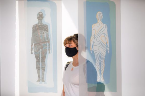 The collaboration between Scottish and Japanese artists explored what it means to be 'in the North'. Scottish artist Kyra Clegg's panels focused on topography and the human body.