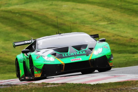 The Barwell Motorsport-prepared Lamborghini Huracan GT3 Evo.