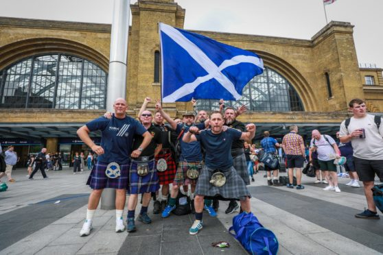 Crossgates Tartan Army in  London for the England game.