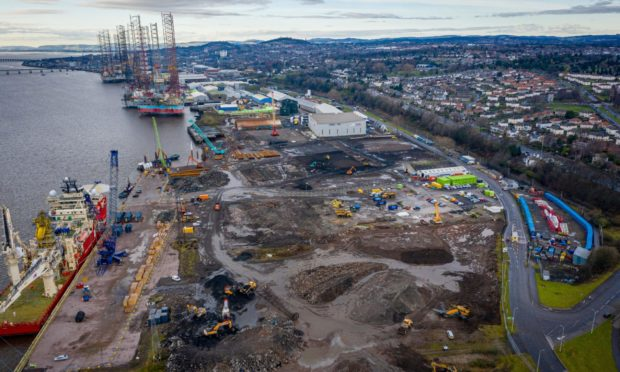 Millions of pounds of work is taking place at the Port of Dundee.
