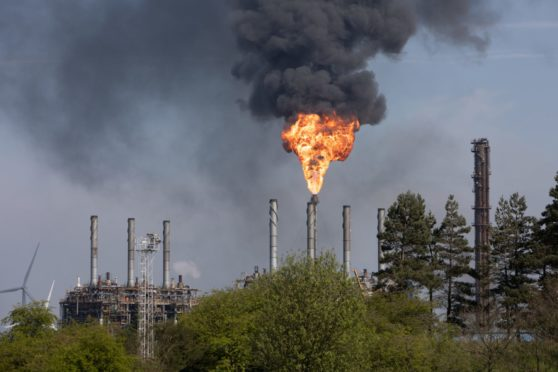 The controversial plant at Mossmorran has had a troubled history with flaring problems over the last few years.