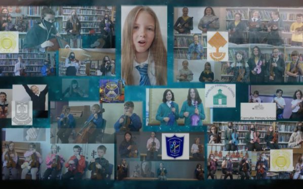 Angus school pupils have created their own virtual sea shanty.