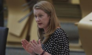 fbpic-  Scotland Education Holyrood. Shirley-Anne Somerville MSP Education Secretary during Scottish Government Debate: Education as the the Scottish government announce the role, remit and purpose of Education Scotland and the Scottish Qualifications Authority will be examined, Scottish Parliament Holyrood Edinburgh. Scottish Education Coronavirus. Scotland Scottish politics. Thursday 3 June 2021. Pool/Fraser Bremner/Daily Mail  Picture FRASER BREMNER (date taken)03.06.2021(digital image) tel 07976 414 878 email fbremnerinfo@yahoo.co.uk