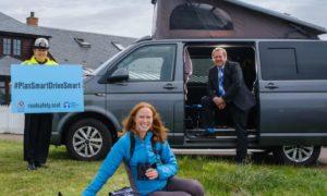 Chief Superintendent Louise Blakelock, Visit Scotland's Caroline Warburton, and Transport Minister Graeme Dey.