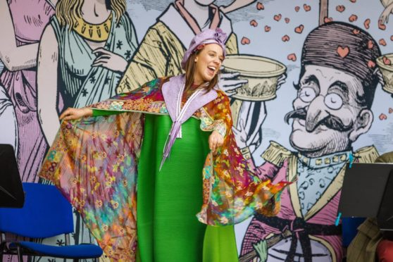 Stephanie Stanway in Iolanthe, Scottish Opera pop-up show. Picture: Paul Campbell. .