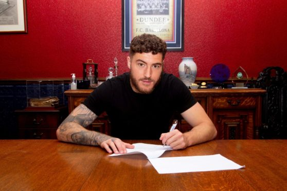 New Dundee signing Ryan Sweeney  By David Young