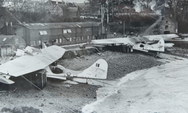 Catalinas at Woodhaven, Wormit, during the Second World War