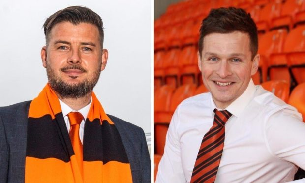 Dundee United boss Tam Courts and academy director Andy Goldie.