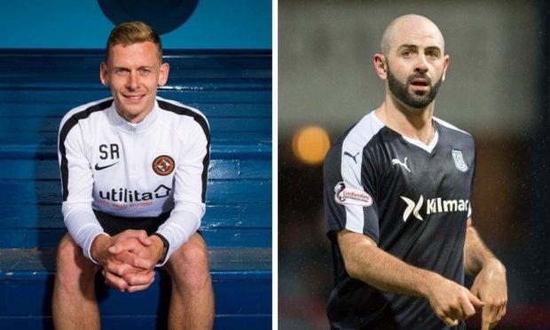 Scott Robertson (left) and Gary Harkins have joined Forfar's backroom team.