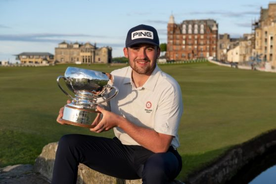 Jack Cope with the St Andrews Links Trophy.