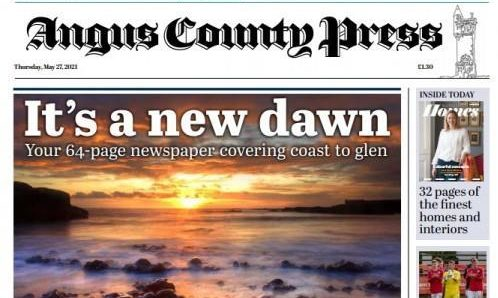 The first edition of the new Angus County Press title.