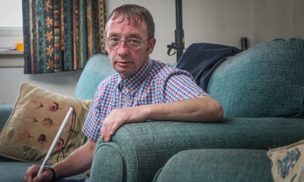 Frank, who has had two break-ins to his Lochee flat in the space of two months.