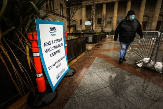 Covid Dundee cases continue to rise as the vaccine programme is rolled out
