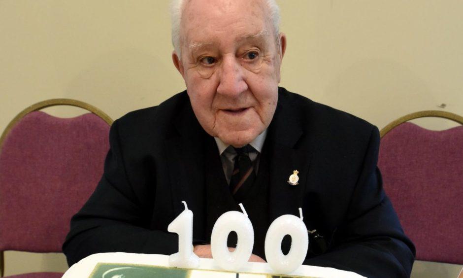 John Murdoch celebrating his 100th birthday.
