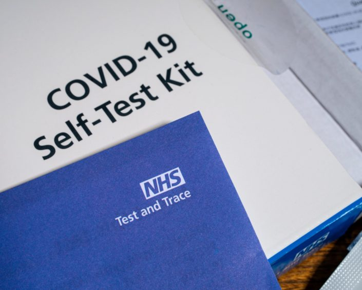 The number of pupils and teachers recording their Covid-19 test results has fallen.