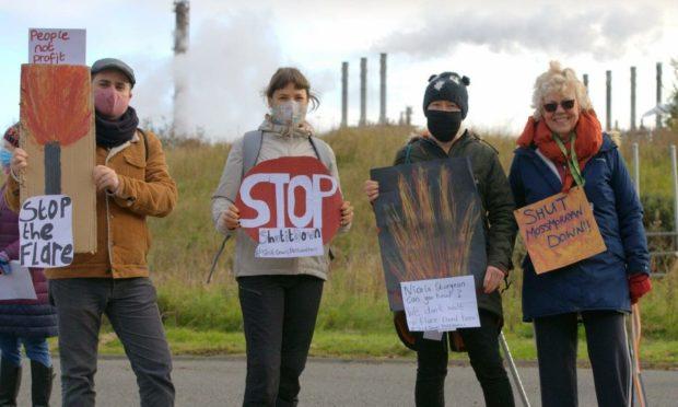 Mossmorran climate camp protestors