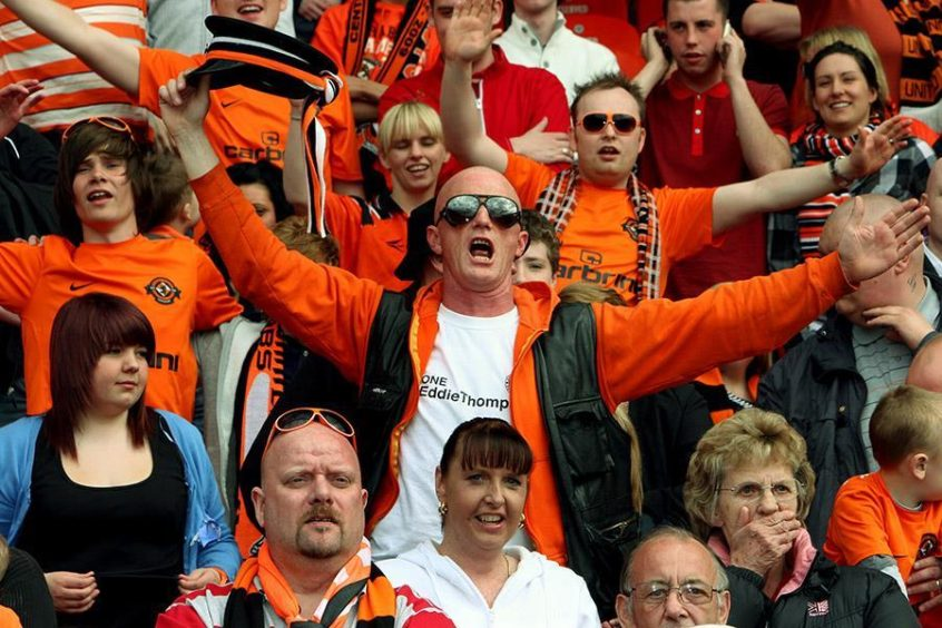 Dundee United fans during the 2010 Scottish Cup Final