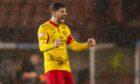 Thomas O'Ware celebrates
