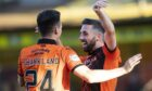 Dundee United duo Lawrence Shankland and Nicky Clark.