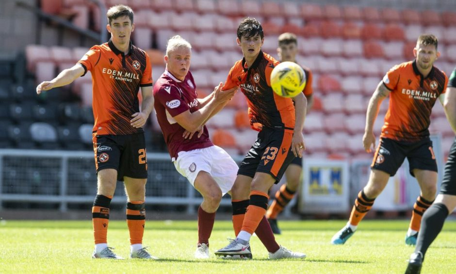 Harrison Clark, who faced Dundee United on Saturday, netted his first goal for the club against St Johnstone