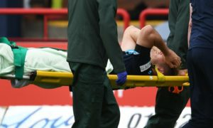 Dundee relieved as striker Danny Mullen escapes serious injury after being stretchered off against St Mirren