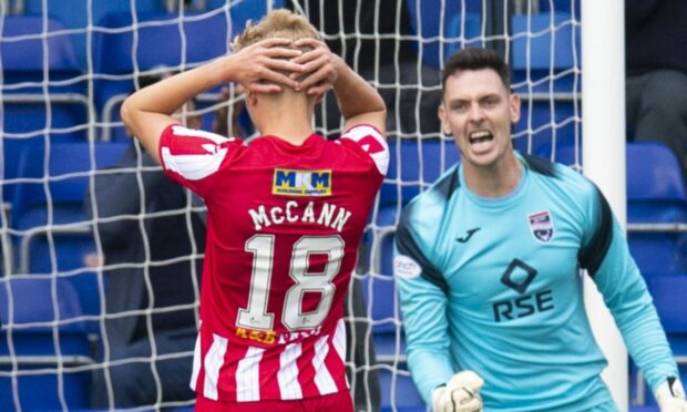 Ali McCann after missing his penalty.