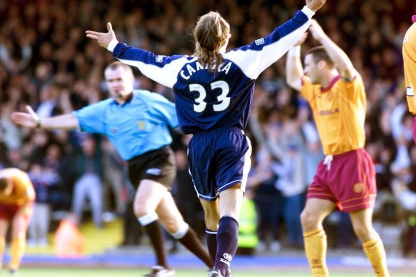 1990 World Cup Hero Claudio Caniggia (The Bird) joined Dundee in October, 2000.