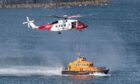 A Coastguard Search and Rescue helicopter and RNLI crew from Kinghorn were among the emergency response at East Wemyss.